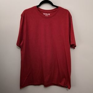 Hurley Red Marled Classic Basic Tee Size Size XL